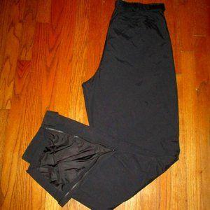 EDDIE BAUER Black Nylon Pull-On Pants Sz XL